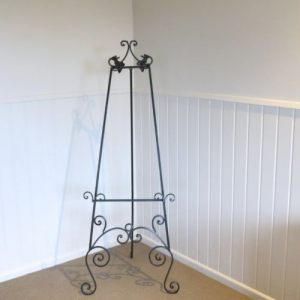 Wrought Iron Black Easel