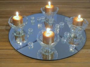 Single Glass Tea Light Candle Holder