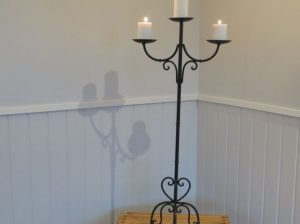 Tall Black Heart Candelabra