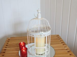 Cream Hanging Vintage Bird Cage