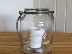 Large Candle in the Wind Jar