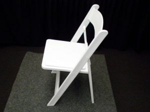 White Americana Folding Chair