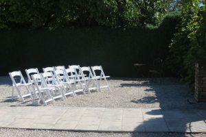 White Folding Americana Chairs