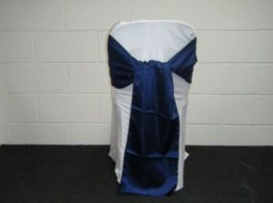 Dark Blue Satin Sash