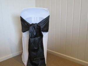 Black Satin Sash