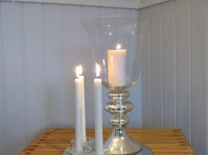 Silver Stem Flute with Taper Candle Holders