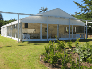 10m x Marquee with Clear Walls