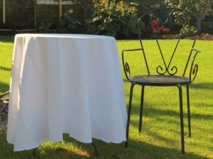 Wrought Iron Ceremony Table and Chair