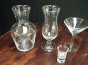Carafes and Coctail Glasses