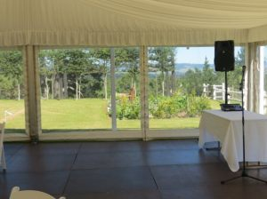Marquee with Clear Windows